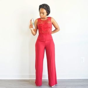 Red Pant Set